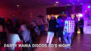 Party Mania Discos 80's Night