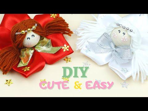 Смотрите как легко сделать Милую новогоднюю КУКЛУ из ленты / Cute Fairy Angel doll / DIY NataliDoma