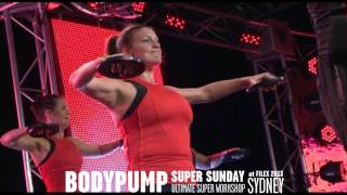 Les Mills BODYPUMP® 86 at Super Sunday 2013