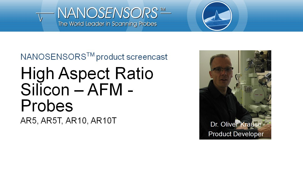 NANOSENSORS™ High Aspect Ratio Silicon AFM probes