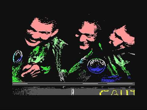 Commodore 64: Apollo 18 - Mission to the Moon game ending by Accolade