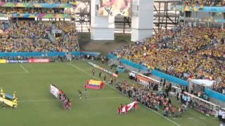Hinos Japão & Colômbia - Arena Pantanal - Cuiabá-MT, 24/06/2014.