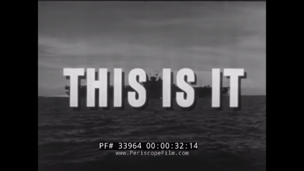 "U.S. Navy WW2 Naval Aviator Training Film ""This Is It"""