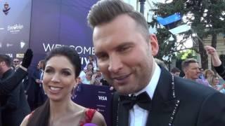 Eurovision 2017 - Red carpet - Estonia - Koit Toome & Laura