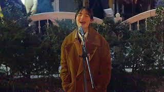 이하이☆한숨☆COVER [탈급식생 백다연] 홍대버스킹 20180105금 [Hongdae Kpop Street Busking]