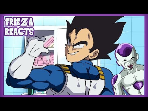 FRIEZA REACTS TO VEGETA COMES TO EARTH! (NEW GROUNDS DRAGONBALL Z COLLAB)