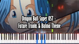 Dragon Ball Super OST - Future Trunks & Bulma Theme - Piano Tutorial - Synthesia W/ Realistic Sound!