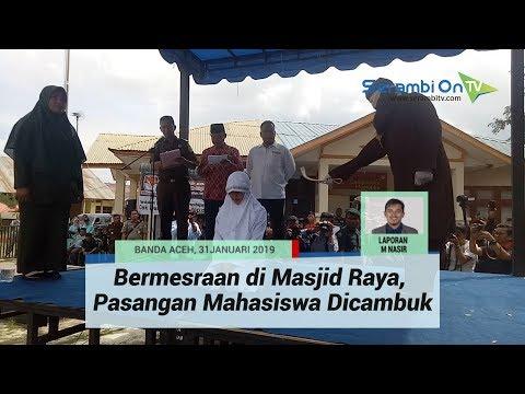 Download Video Bermesraan Di Masjid Raya, Pasangan Mahasiswa Dicambuk