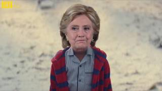 Hillary Clinton and Donald Trump John Lewis Christmas Ad