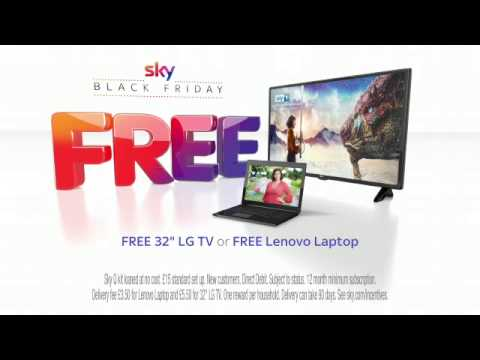 """Sky Black Friday has arrived with a FREE 32"""" LG TV or a FREE Lenovo laptop"""