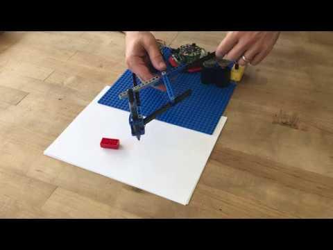 Crickit x LEGO Harmonic Drawing Machine @adafruit @johnedgarpark #adafruit #lego