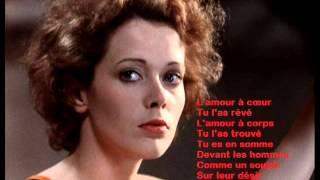 Pierre Bachelet -- Emmanuelle with lyrics