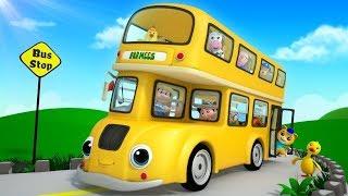 Wheels on the Bus   More Nursery Rhymes & Children Songs   Cartoons by Farmees