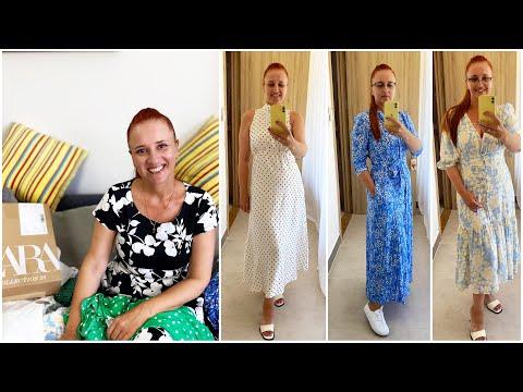 ВЛОГ ДЛЯ ЖЕНЩИН! Мои новые платья Магазин на диване заказ ZARA Люда Изи Кук платья fashion dresses