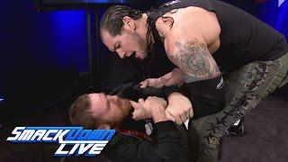 Baron Corbin gives Sami Zayn a warning before WWE Backlash: SmackDown LIVE, May 16, 2017