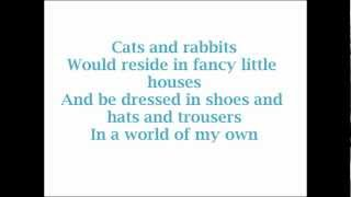 Alice In Wonderland- World of My Own (Lyrics)