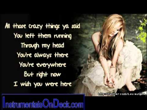 Avril Lavigne Wish You Were Here Instrumental Download Chords