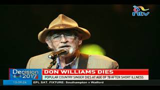 Popular country singer Don Williams dies at age 78 after short illness width=