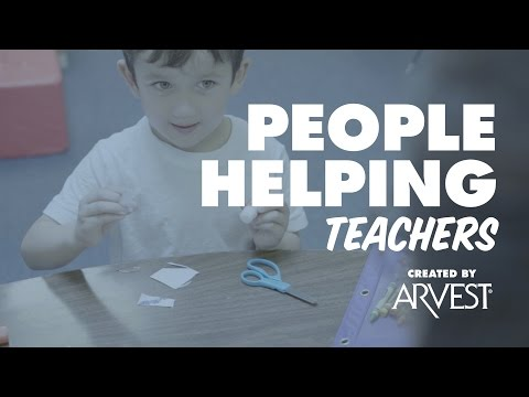 Vicki Lewis Provides Supplies for Teachers – People Helping People Created by Arvest Bank