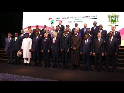 Le President OUATTARA a pris part au Sommet Royaume Uni Afrique sur linvestissement a Londres