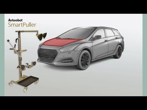 Autorobot SmartPuller - repairing the vehicle front part