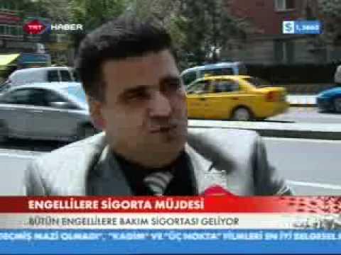 TRT Haber - Özürlü Ailesine Sigorta Müjdesi (detaylı haberi)