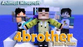 4brother Liburan | Animasi Minecraft Indonesia (Despacito)