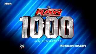 "WWE RAW 1,000th Episode Theme Song - ""Tonight Is the Night"" + Download Link"