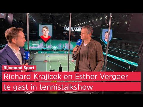 Richard Krajicek in tennistalkshow: 'Even down geweest, maar blij dat we doorgaan met ABN AMRO WTT'