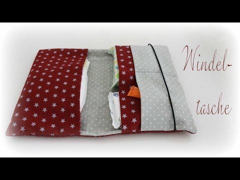 Windeltasche mit Gummiband nähen * DIY * Sew a Diaper Bag [eng sub]