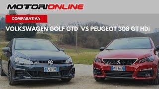 Peugeot 308 GT HDi VS Volkswagen Golf GTD   Test Drive, Pregi e Difetti