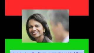 """Gaddafi DVD+SONG to Condi Rice! """"BLACK FLOWER IN THE WHITE HOUSE"""""""