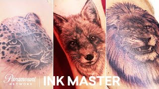 'Surviving Animal Kingdom' Photo Realism Challenge Highlight | Ink Master: Grudge Match (Season 11)