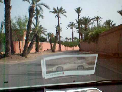 Cruising around La Palmeraie Palace In Marrakech, Morocco
