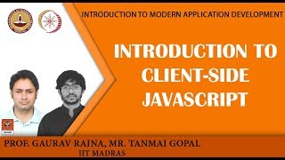 Module P5: Introduction to client-side Javascript width=