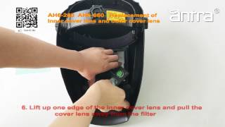 How to Replace Exterior and Interior Lens Covers - Antra Welding Helmets AH6-260 and AH6-660 Series