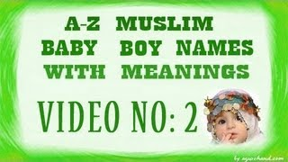 A To Z Muslim Baby Boy Names With Meanings 02 Youtube