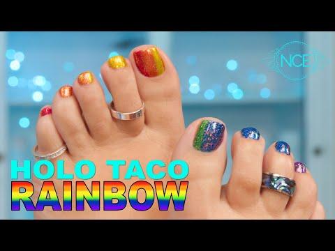 Holo Taco Rainbow Toes