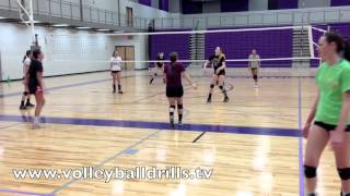 Volleyball Drill: Queen Series