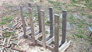 Fast and Sturdy Chainsaw Cutting Racks