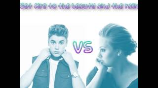 Justin Bieber vs Adele Mashup - Set fire to the beauty and the rain