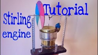 How to make Stirling engine (Simple design)