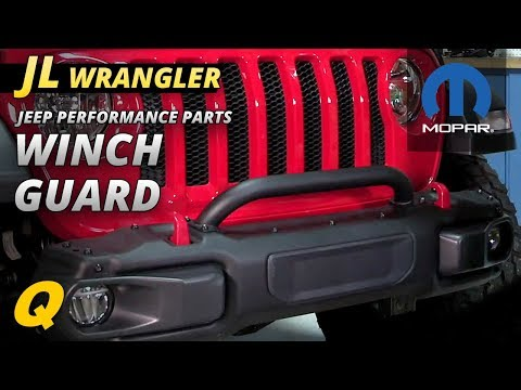 Mopar Winch Guard for Jeep Wrangler JL with Rubicon Steel Front Bumper
