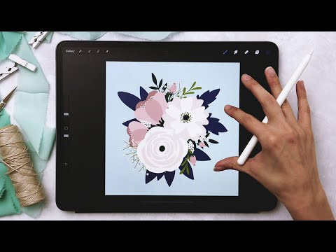 Create a Flat Style Floral Bouquet in Procreate