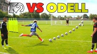 ODELL'S OUTRAGEOUS SOCCER SKILLS   F2 vs Beckham Jr 😱🏈⚽️