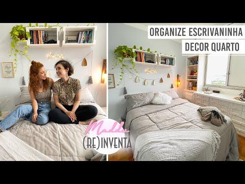 DIY Organize Escrivaninha & Decor Quarto #MadduReinventa
