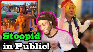 QPark ~ 6IX9INE '  STOOPED CHALLENGE IN PUBLIC !!! (REACTION)