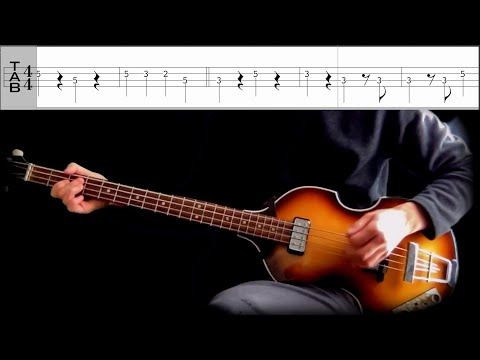 Bass TAB : Misery - The Beatles