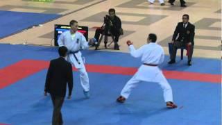 2011 Jr WKF World Championship Male Kumite Junior -76Kg Finals England vs Egypt.mpg