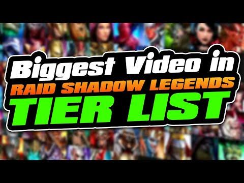 Raid Shadow Legends Tier Lists